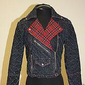 Одежда ручной работы. Ярмарка Мастеров - ручная работа Джинсовая куртка. Handmade.