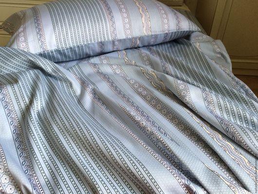 """Текстиль, ковры ручной работы. Ярмарка Мастеров - ручная работа. Купить Постельное белье из Сатина-Премиум"""" Голубая гладь"""". Handmade."""