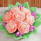 Материалы для творчества handmade. Livemaster - original item Silicone molds for soap Bouquet of 7 roses. Handmade.