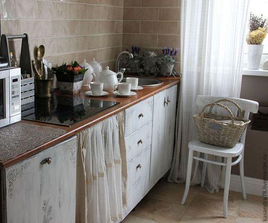 Мебель ручной работы. Ярмарка Мастеров - ручная работа. Купить Декорирование кухонных фасадов в стиле Шебби или Прованс. Handmade.