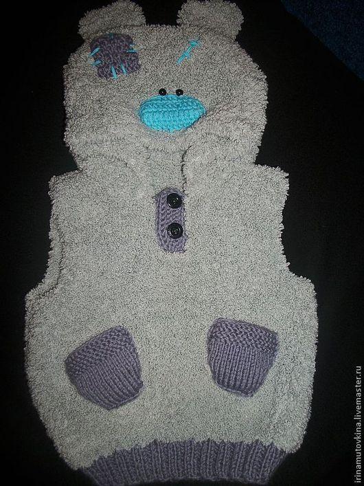 Одежда унисекс ручной работы. Ярмарка Мастеров - ручная работа. Купить Мишка Тедди ( жилет для малыша). Handmade. полушерсть