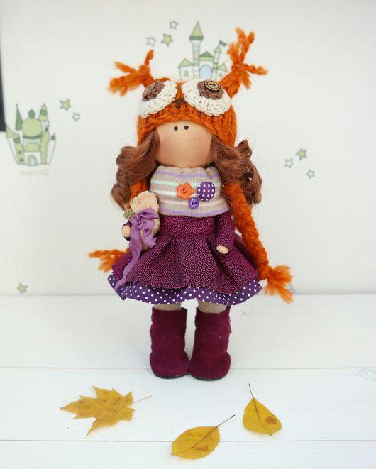 Куклы тыквоголовки ручной работы. Ярмарка Мастеров - ручная работа. Купить Интерьерная текстильная кукла. Handmade. Кукла, подарок, хлопок