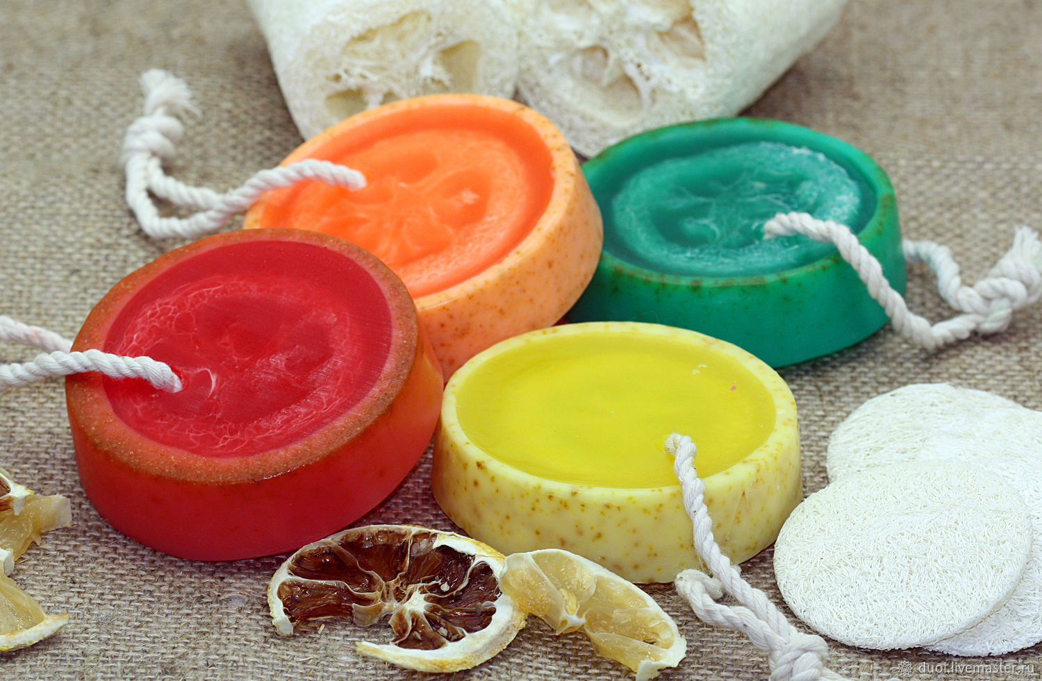 Soap with loofah Citrus mix, Soap, Moscow,  Фото №1
