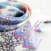 Аксессуары handmade. Livemaster - original item Italian silk scarf from Versace fabric