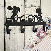 Для дома и интерьера ручной работы. Ярмарка Мастеров - ручная работа крючки металлические Поварята. Handmade.