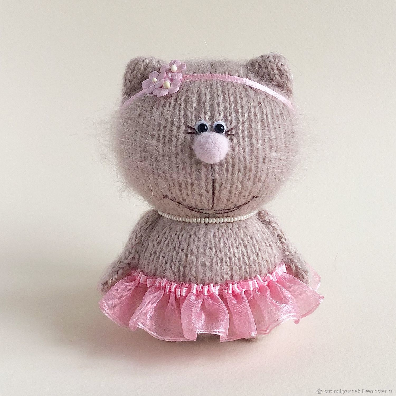 Animal Toys handmade. Livemaster - handmade. Buy Pussy Rosie.Knitted toys, a gift for any occasion