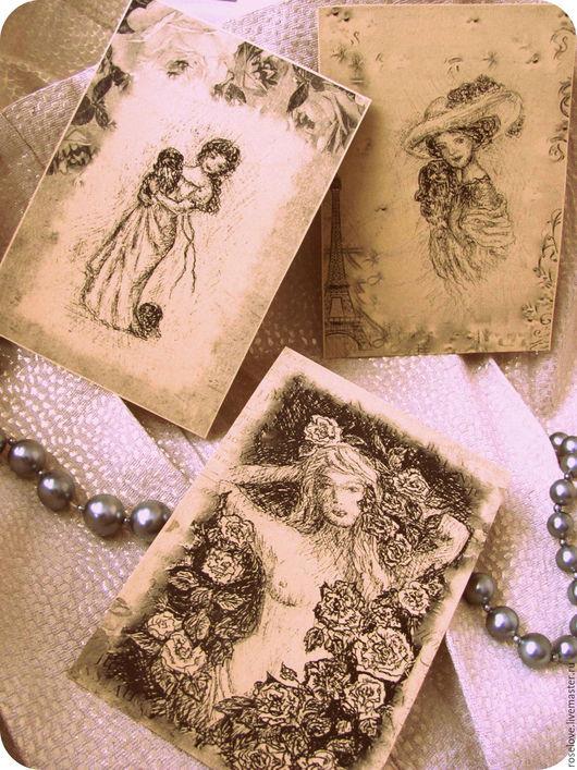 Авторские открытки.Ретро-графика. Катерины Аксеновой.купить авторские открытки в Москве,купить открытки по картинам,купить набор авторских открыток ,ретро открытки,графика открытки,