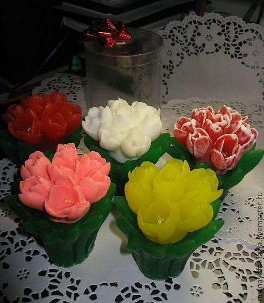 Мыло ручной работы. Ярмарка Мастеров - ручная работа. Купить Тюльпаны. Handmade. Тюльпан, цветы, ручная работа, мыльная основа
