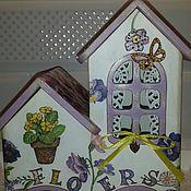 Домики ручной работы. Ярмарка Мастеров - ручная работа Чайный домик двойной (для хранения чайных пакетиков). Handmade.
