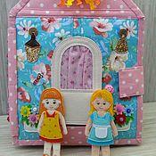 Куклы и игрушки ручной работы. Ярмарка Мастеров - ручная работа Мастер-класс по пошиву кукольного домика. Handmade.