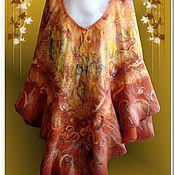 """Одежда ручной работы. Ярмарка Мастеров - ручная работа Пончо """"Щедрые краски осени 2. Handmade."""