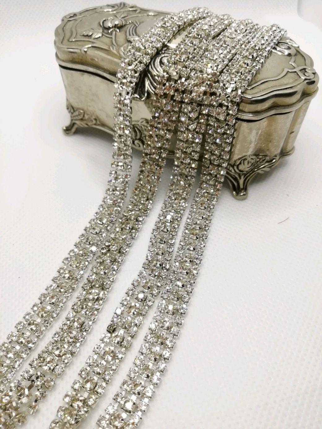 la cadena de: Cadena de diamantes de imitación Diamante 3 filas de diamantes de imitación 2 y 3mm, Chains, St. Petersburg,  Фото №1