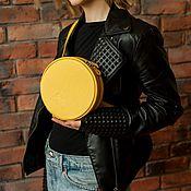 Поясная сумка ручной работы. Ярмарка Мастеров - ручная работа Жёлтая сумка из натуральной кожи, маленькая кожаная сумочка на пояс. Handmade.