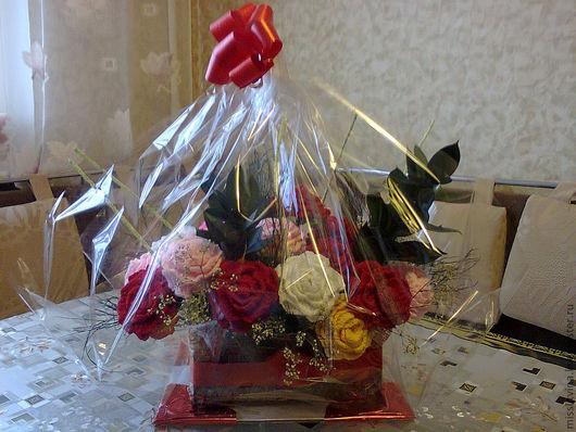 Персональные подарки ручной работы. Ярмарка Мастеров - ручная работа. Купить цветы в корзине. Handmade. Подарок на любой случай, акрил