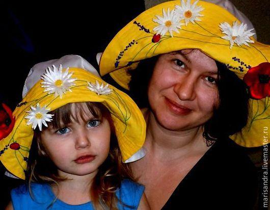 """Шляпы ручной работы. Ярмарка Мастеров - ручная работа. Купить Шляпа """"Полевая сказка"""". Handmade. Комбинированный, шляпка для девочки, поле"""