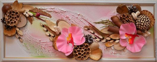 """Картины цветов ручной работы. Ярмарка Мастеров - ручная работа. Купить Коллаж """"Экспрессия"""". Handmade. Комбинированный, из природных материалов"""