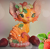 Подарки к праздникам handmade. Livemaster - original item Strawberry cat Devon Rex. Handmade.