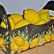 """Для дома и интерьера ручной работы. Ярмарка Мастеров - ручная работа Короб """"Лимонный"""". Handmade."""