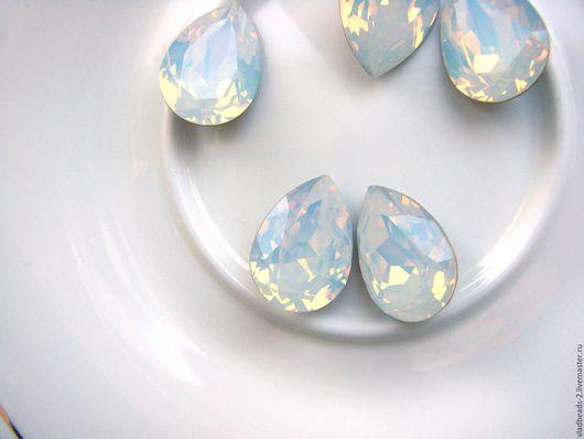 Для украшений ручной работы. Ярмарка Мастеров - ручная работа. Купить Капли Swarovski 18х13мм White Opal. Handmade.