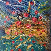 """Картины и панно ручной работы. Ярмарка Мастеров - ручная работа Картина маслом """"Розочки"""", картина цветы, картина розы, картина. Handmade."""