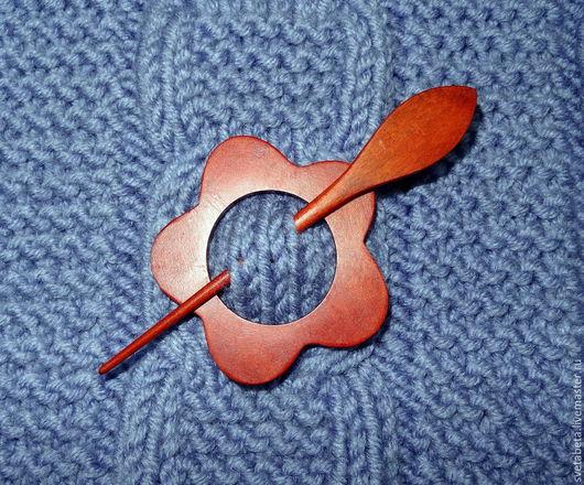 Вязание ручной работы. Ярмарка Мастеров - ручная работа. Купить Заколка для вязаных изделий. Handmade. Аксессуар, аксессуары, дерево