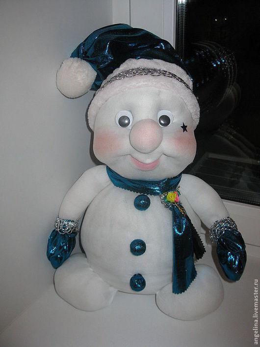 Праздничная атрибутика ручной работы. Ярмарка Мастеров - ручная работа. Купить снеговик, дед мороз и снегурочка. Handmade. Белый