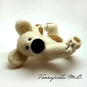 Куклы и игрушки ручной работы. Ярмарка Мастеров - ручная работа Мишутка Наумка-талисман моего магазина. Handmade.
