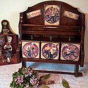Для дома и интерьера ручной работы. Ярмарка Мастеров - ручная работа Полка с коробами. Handmade.