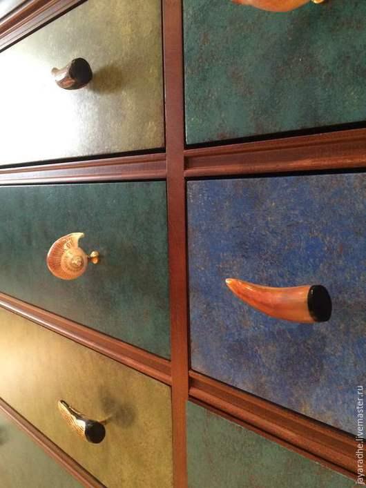 """Мебель ручной работы. Ярмарка Мастеров - ручная работа. Купить Комод """"Золотая рыба"""". Handmade. Рыжий, мебель прованс"""