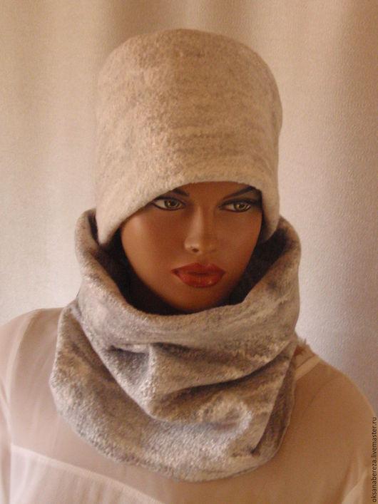 Шапки ручной работы. Ярмарка Мастеров - ручная работа. Купить Шапочка из шерсти. Handmade. Голубой, подарок женщине, шапка зимняя