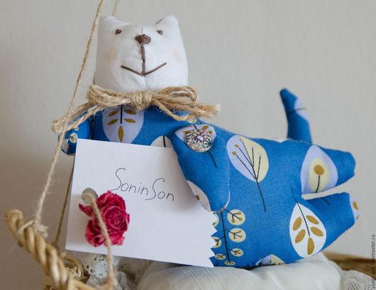 Куклы Тильды ручной работы. Ярмарка Мастеров - ручная работа. Купить Летящий кот Тильда. Handmade. Тёмно-синий, подарок