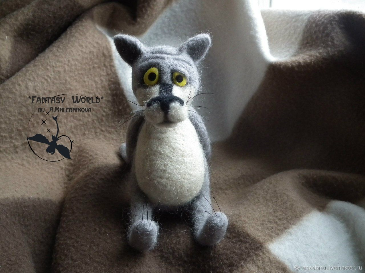 """""""There once was a dog""""  the wolf (dry felting), Felted Toy, Moscow,  Фото №1"""