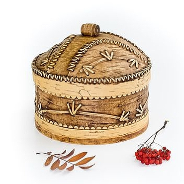 Для дома и интерьера ручной работы. Ярмарка Мастеров - ручная работа Короб для муки из бересты. Емкость для муки. Handmade.