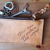 Сумки и аксессуары handmade. Livemaster - original item Leather key holder. Handmade.