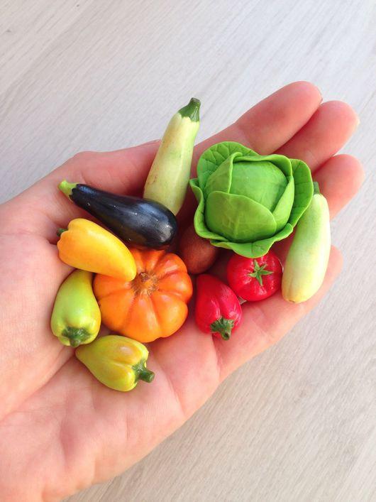 Развивающие игрушки ручной работы. Ярмарка Мастеров - ручная работа. Купить Миниатюрные овощи для детских игр. Handmade. Миниатюра
