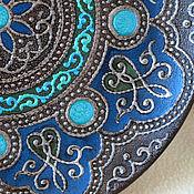Посуда ручной работы. Ярмарка Мастеров - ручная работа Декоративная тарелка с имитацией металла. Handmade.
