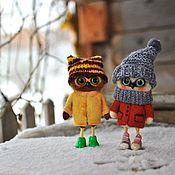 """Куклы и игрушки ручной работы. Ярмарка Мастеров - ручная работа Совы """" Две подружки"""" по мотиву рисунка Инги Пальцер (работа для пример. Handmade."""
