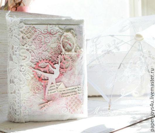 """Блокноты ручной работы. Ярмарка Мастеров - ручная работа. Купить Блокнот ручной работы """"Весенний вальс"""". Handmade. Романтичный, розовый"""