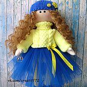 Куклы и игрушки ручной работы. Ярмарка Мастеров - ручная работа Кукла текстильная кудряшка Сьюзи. Handmade.