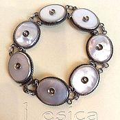 Винтаж handmade. Livemaster - original item Bracelet silver 925 and mother of pearl vitae. Handmade.