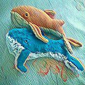 Куклы и игрушки ручной работы. Ярмарка Мастеров - ручная работа Парочка китов. Handmade.