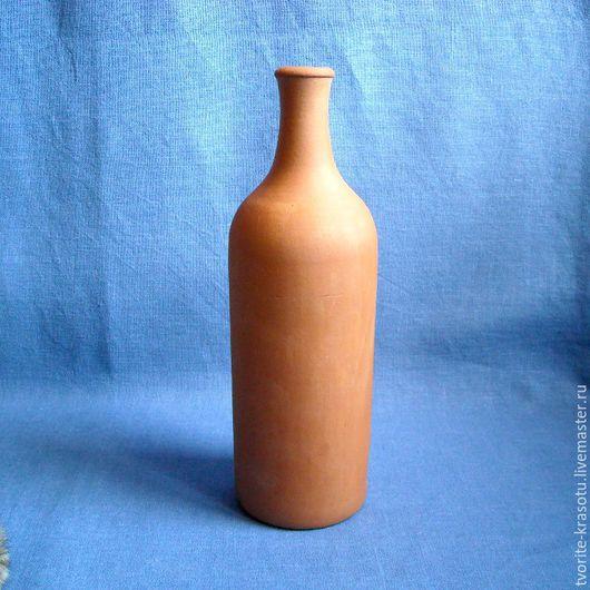 керамическая бутыль для вина, заготовка для декупажа и росписи.