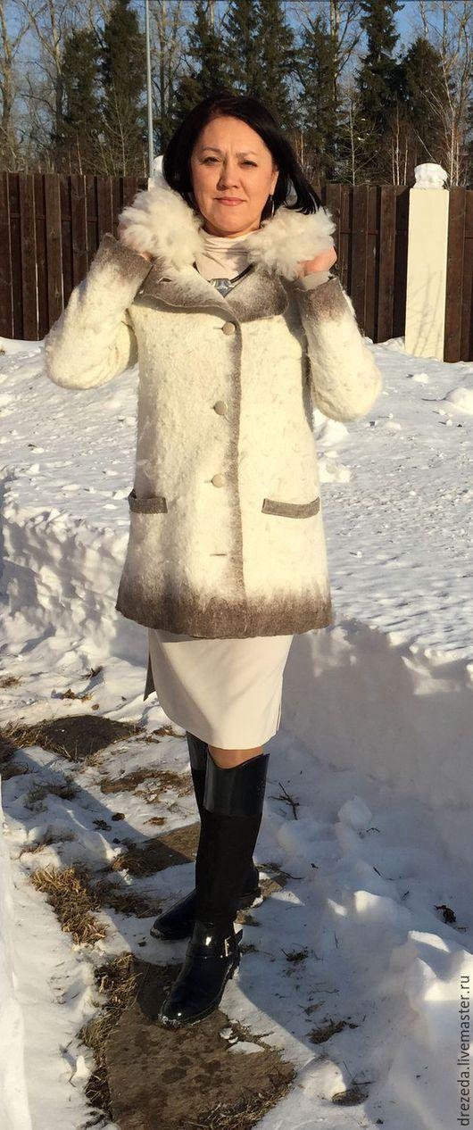 Верхняя одежда ручной работы. Ярмарка Мастеров - ручная работа. Купить куртка Снежная. Handmade. Белый, новозеландский меринос