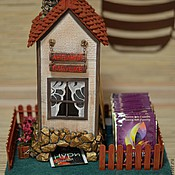"""Для дома и интерьера ручной работы. Ярмарка Мастеров - ручная работа Чайный домик """"Любимой бабушке"""". Handmade."""
