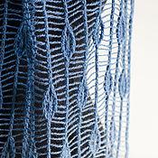 Аксессуары ручной работы. Ярмарка Мастеров - ручная работа Ажурный палантин сине-голубой. Handmade.
