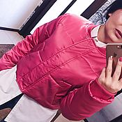 Одежда ручной работы. Ярмарка Мастеров - ручная работа Яркая теплая курточка для холодного времени года и утонченного вкуса!. Handmade.