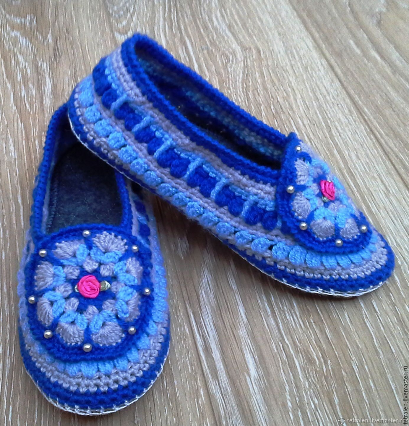 0f3b2c84b3c94b Slippers crochet Valentine – shop online on Livemaster with shipping ...