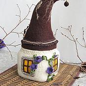 handmade. Livemaster - original item Felted house with a secret. Handmade.