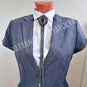 Украшения handmade. Livemaster - original item Pendant: Dark gray Bolo tie. Handmade.
