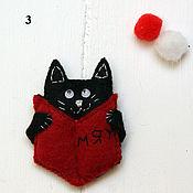 handmade. Livemaster - original item Icon: Brooch cat with a book. Handmade.